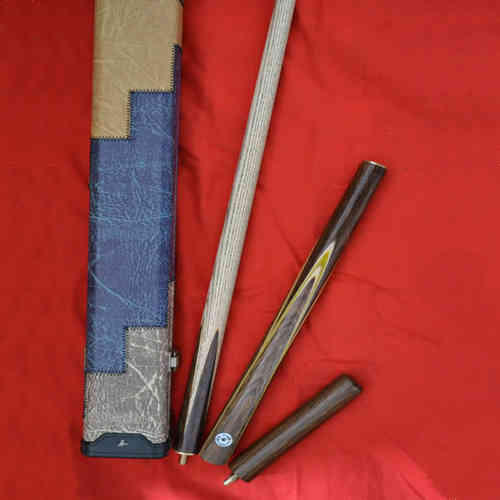 Handmade 3 piece GRADE A Ash Snooker/Pool Cue Complete Set