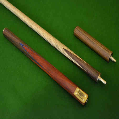 57 Inch Handmade Rengaswood and Rosewood Ash Snooker/Pool Cue with Mini-Butt.