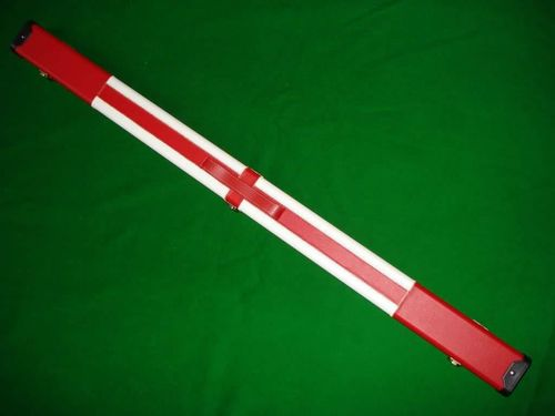 Luxury Hand Crafted 3/4 St Georges Cross Leather Hard Snooker Cue Case