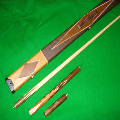 57 Inch Handmade 3/4 Multi-Handspliced Rosewood Butt, Ash Shaft Snooker/Pool Cue Set