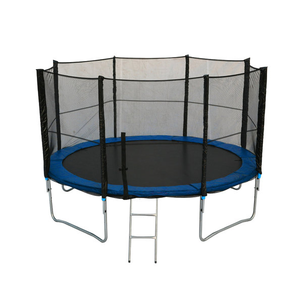 12ft Trampoline With Safety Enclosure Net Ladder And Rain