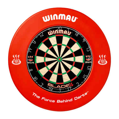 Winmau Professional Dartboard Surround with Printed Winmau Logo in Red.