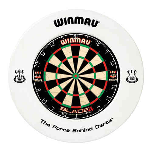 Winmau Professional Dartboard Surround with Printed Winmau Logo in White.