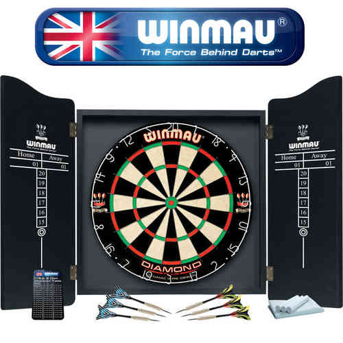 Winmau Professional Dart Set - Comes With Dartboard, Darts and Cabinet