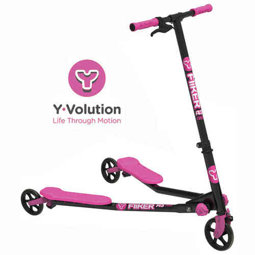 Yvolution A3 Air Y Fliker Kids Scooter - Black/Pink