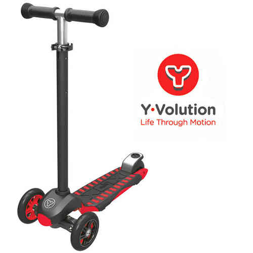 Yvolution Y Glider XL Deluxe Scooter - Red.