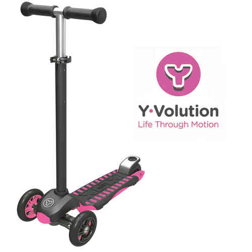 Yvolution Y Glider XL Deluxe Scooter - Pink.