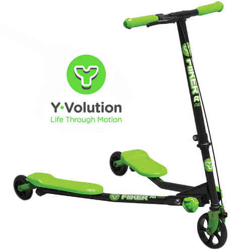 Yvolution A1 Air Y Fliker Kids Scooter - Black/Green