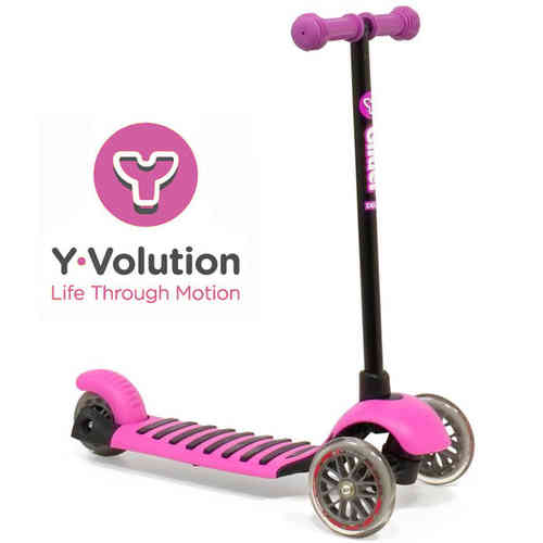 Yvolution Y Glider Deluxe Scooter - Magenta Pink (New To The UK)