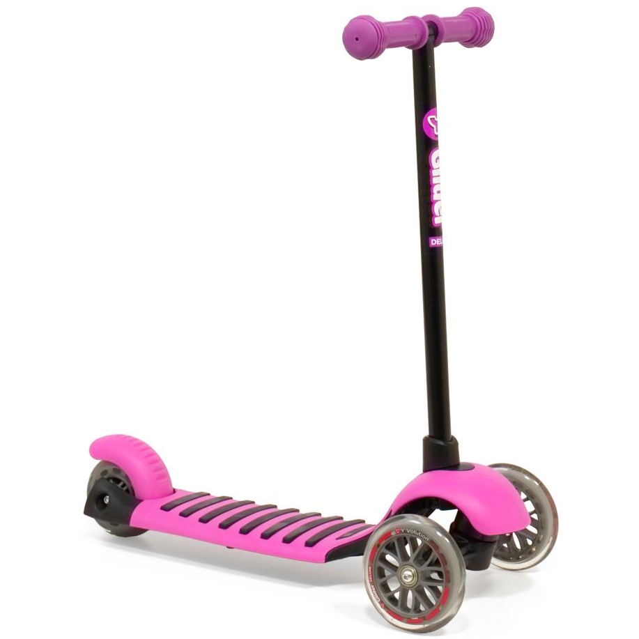 Yvolution Y Glider Deluxe Scooter Magenta Pink New To