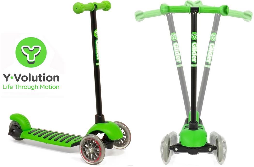 Yvolution Y Glider Deluxe Scooter Green New To The Uk