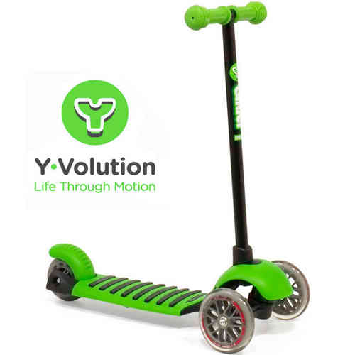 Yvolution Y Glider Deluxe Scooter - Green (New To The UK)