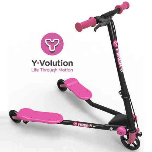 Yvolution A1 Air Y Fliker Kids Scooter - Black/Pink