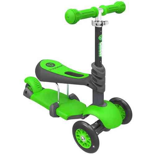 Childrens Yvolution Y Glider 3 in 1 Scooter - Green