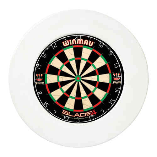 Winmau Professional Plain Dartboard Surround - White