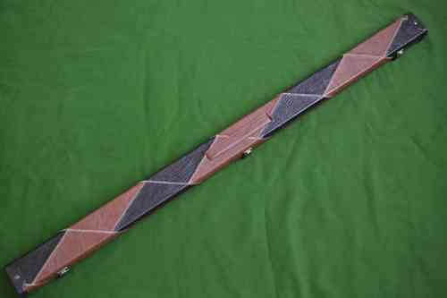 3/4 Patch Style Snooker Cue Case - Brown/Black
