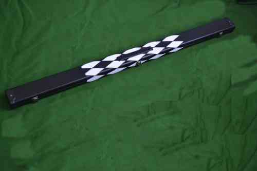 3/4 Patch Style Snooker Cue Case - Black/White