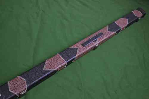 Retro Style 3/4 Snooker Cue Case - Light/Dark Brown