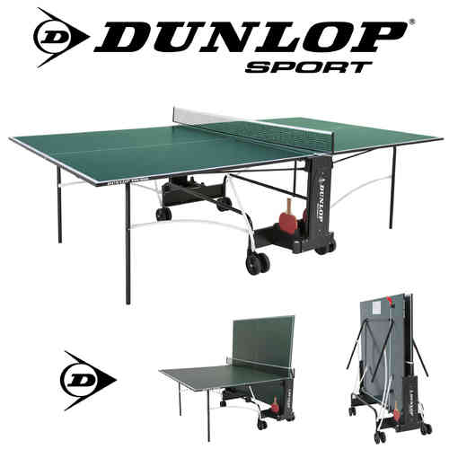 Dunlop EVO 4000 Full Size Indoor Table Tennis Table In Green With Bats, Balls and Net Included
