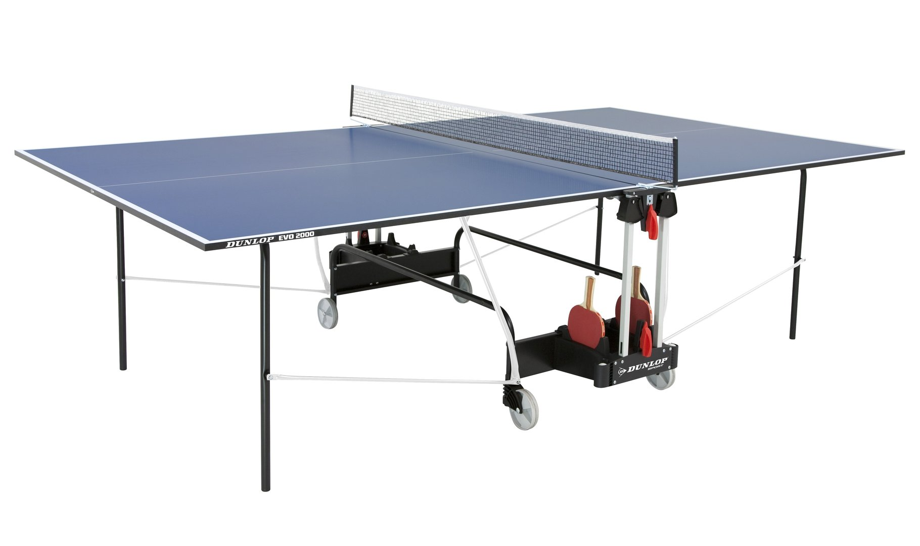 Dunlop evo 2000 full size indoor table tennis table in - Full size table tennis table dimensions ...