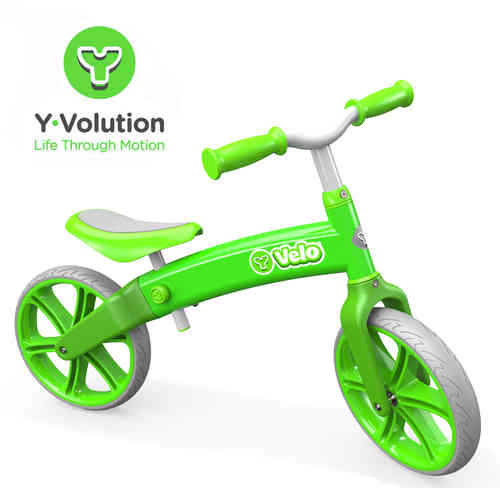 Y Velo Balance Bike In Green - Recommended Age 3+ Years