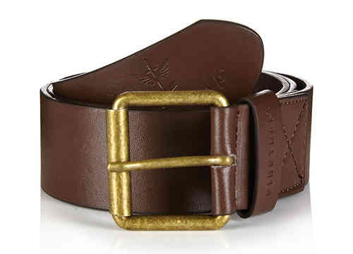 Firetrap Belt - Brown/Gold Tone
