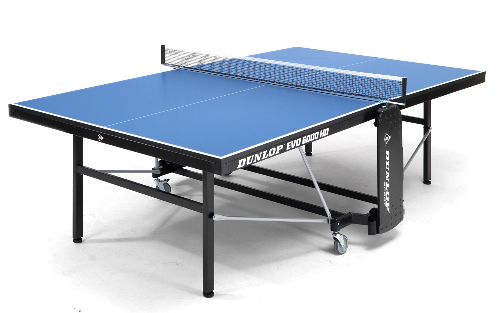 Dunlop evo 6000 hd full size indoor table tennis table in blue with bats balls and net included - Dimensions of a table tennis board ...