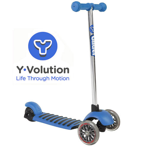 Yvolution Y Glider Deluxe Scooter - Blue (New To The UK)