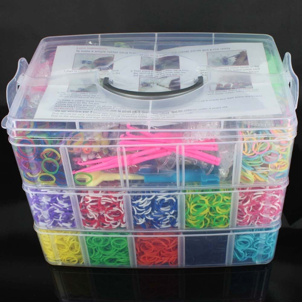 13 500 X Rainbow Colourful Rubber Loom Bands Bracelet Diy