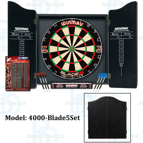 Winmau Professional Dart Set - Blade 5 Dartboard - Darts/Choice of Cabinet