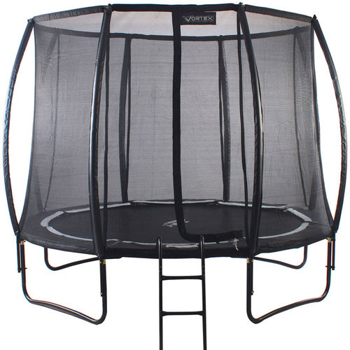 NEW 8ft Telstar Vortex BLACK Edition Trampoline and Enclosure with FREE Cover and Ladder