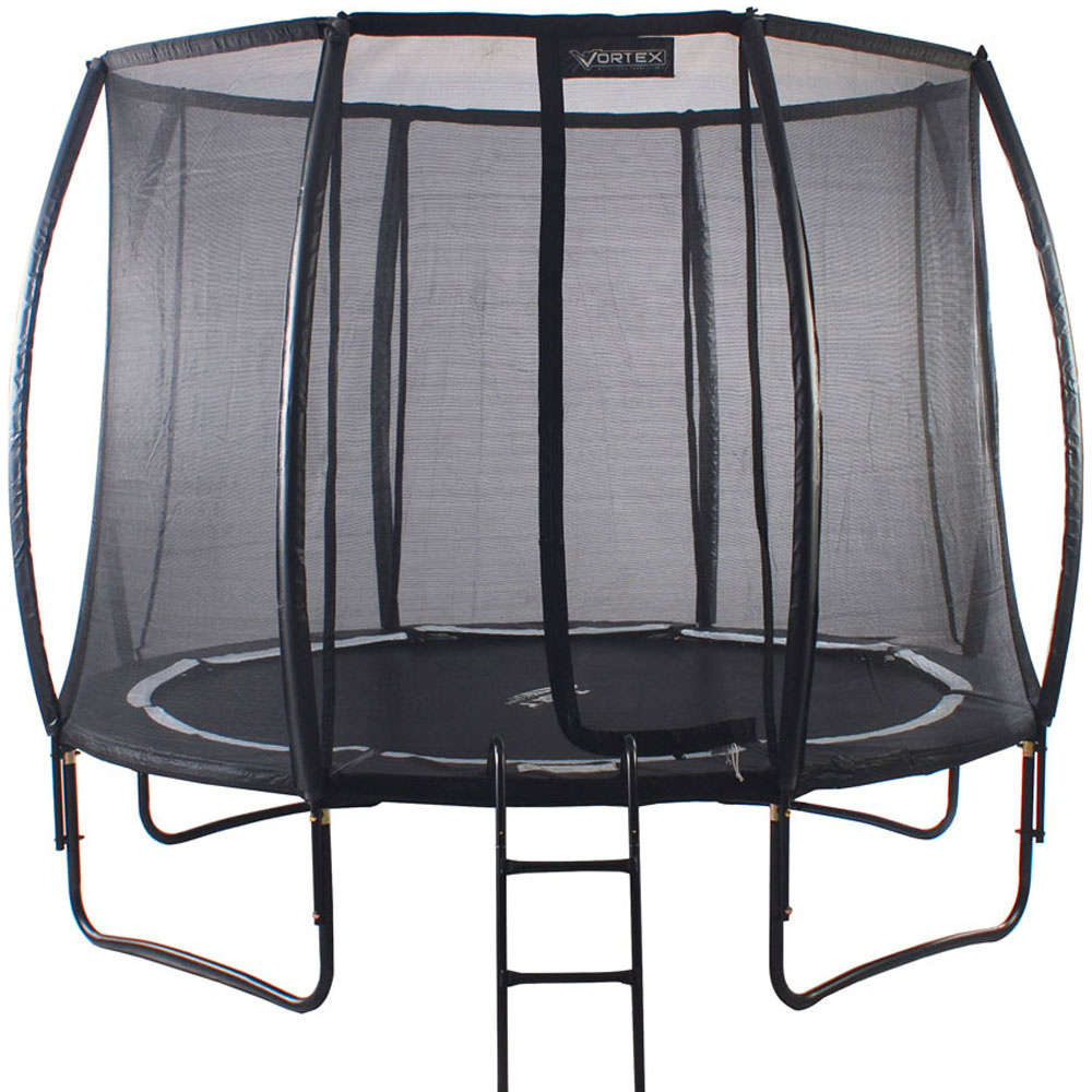 new 8ft telstar vortex black edition trampoline and enclosure with