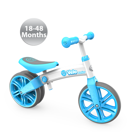 Childrens Y Velo Junior Balance Bike in Blue- 18-48 Months