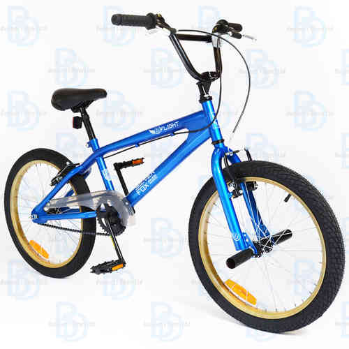 "Silverfox Flight 20"" Unisex BMX Bike - Blue/Black/Tanned"