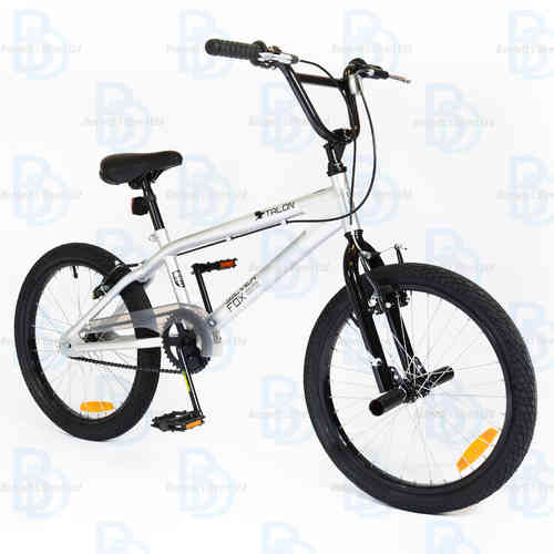 "Silverfox Talon 20"" Unisex BMX Bike - Grey/Black"