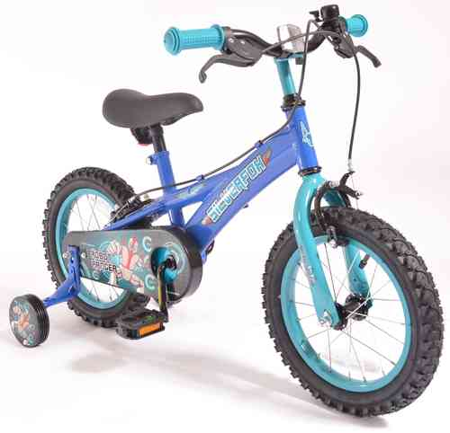 "Silverfox Robot Ranger 14 "" Boys Bike - Blue, Black and Purple"