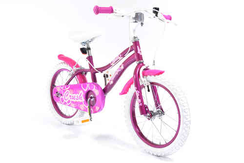 "Silverfox Crush 16"" Girls Bike - Purple and Pink"
