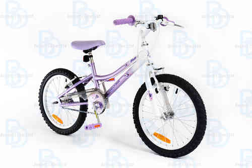 "Silverfox Flutter 18"" Girls Bike - Lavender and White"