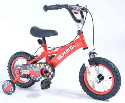 "Silverfox Rapid Racer 12"" Boys Bike - Red/White/Black - SPECIAL OFFER"