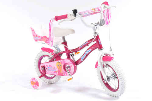 "Silverfox Pink Princess 12"" Girls Bike - Pink and White"