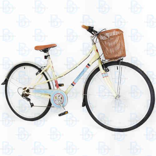 Universal Classic 700c Ladies City Bike - Cream and Blue