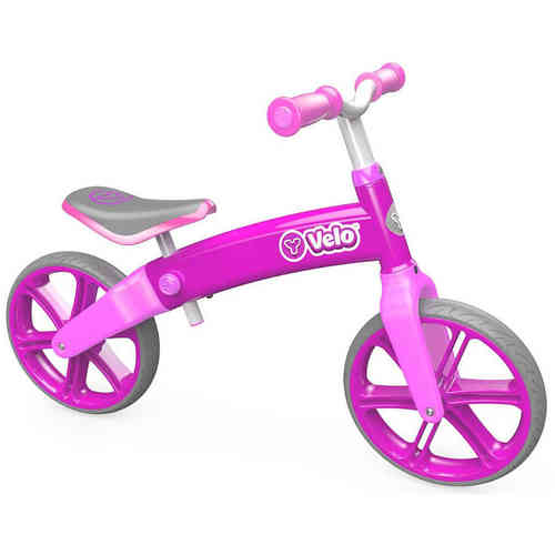 Y Velo Balance Bike - Pink - Age 3+ Years - Aluminium - New to The UK