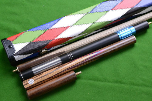 Handmade 3/4 Piece 57 Inch Premium Ash Snooker/Pool Cue Complete Set with Case/Extension/Mini Butt