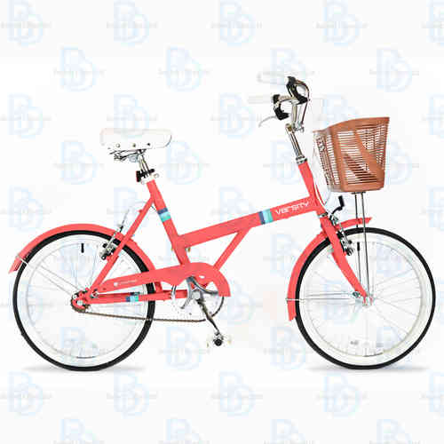 "Universal Varsity 20"" Ladies Shopping Bike - (Colour Coral) - Basket - Mudguards"