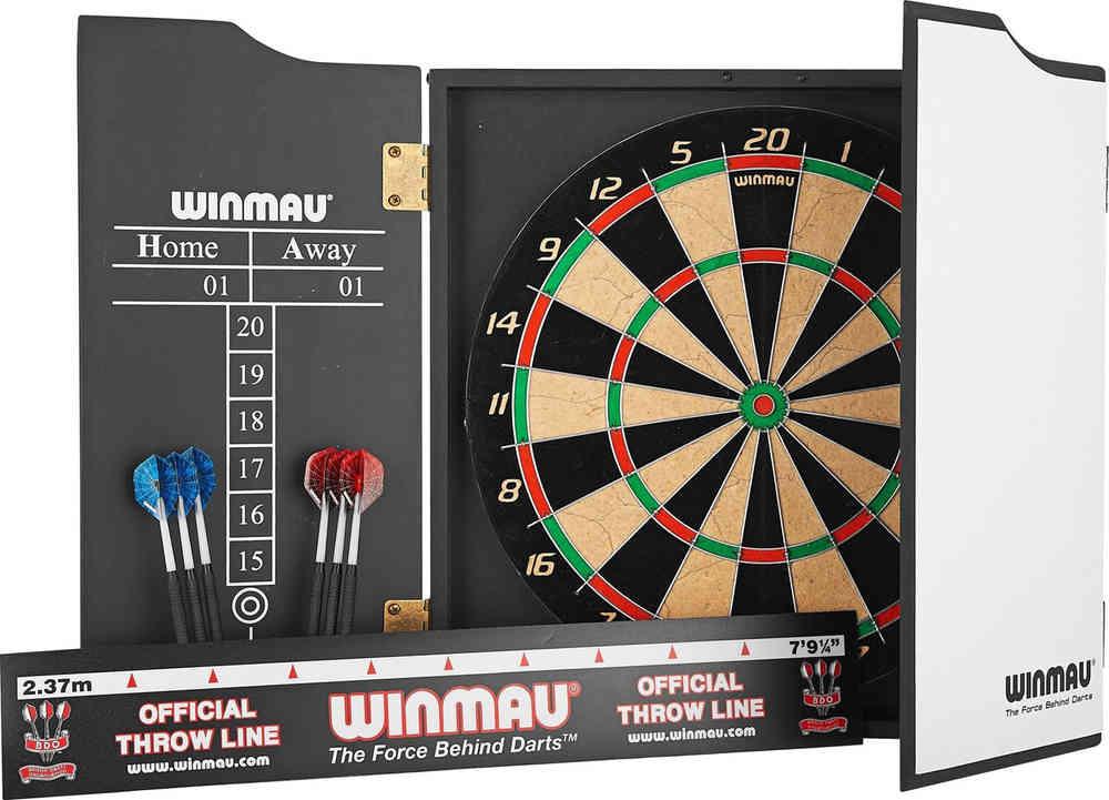 Winmau Rebel Dart Package/Set - Rebel Dartboard - Cabinet