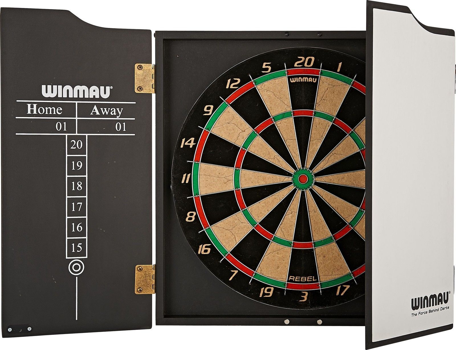 Winmau Rebel Dart Package/Set - Rebel Dartboard - Cabinet - Darts ...