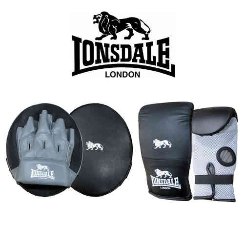 Lonsdale Jab Glove and Pad Set - Boxing Fitness Set