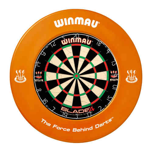 Winmau Professional Dartboard Surround with Printed Winmau Logo in Orange.