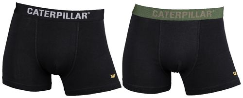 Caterpillar Deluxe Mens Boxer Shorts / Trunks 2 Pack Various Styles
