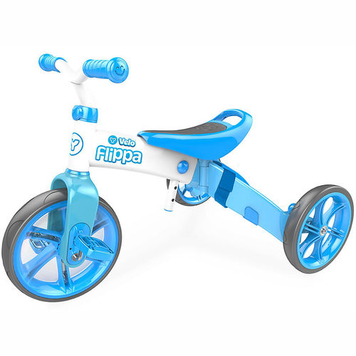Childrens Y Velo Flippa Trike and Balance Bike / Ride on - Blue Toy - 3 yrs+